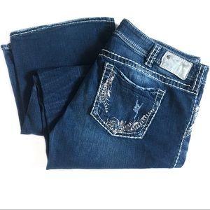 Silver Jeans Suki Plus Jeans Embellished Denim 36